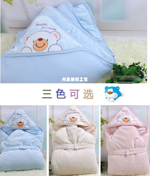 Autumn and winter newborn baby thickening was liner plus size born parisarc comforter supplies(China (Mainland))