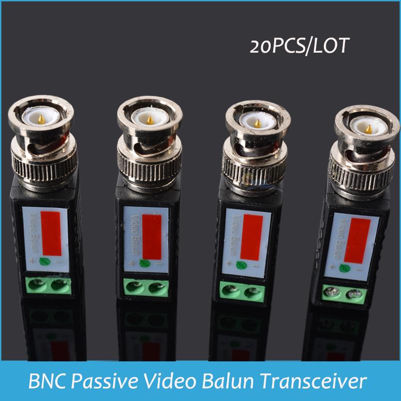 20pcs/lot COAX CAT5 Camera CCTV BNC Passive Video Balun Transceiver Cable Coaxial Adapter Video Balun Drop shipping(China (Mainland))