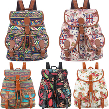 30 Colors Exclusive Handmade Vintage Rucksack Printing Canvas Women Backpack Mujer Mochila Escolar Feminina School Bag Sac a Dos(China (Mainland))