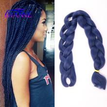 1~5Pcs/Lot 165g Kanekalon Expression Braiding Hair Folded 42inch Marley Blue Synthetic Braid Hair Extensions For Twist&Box Braid