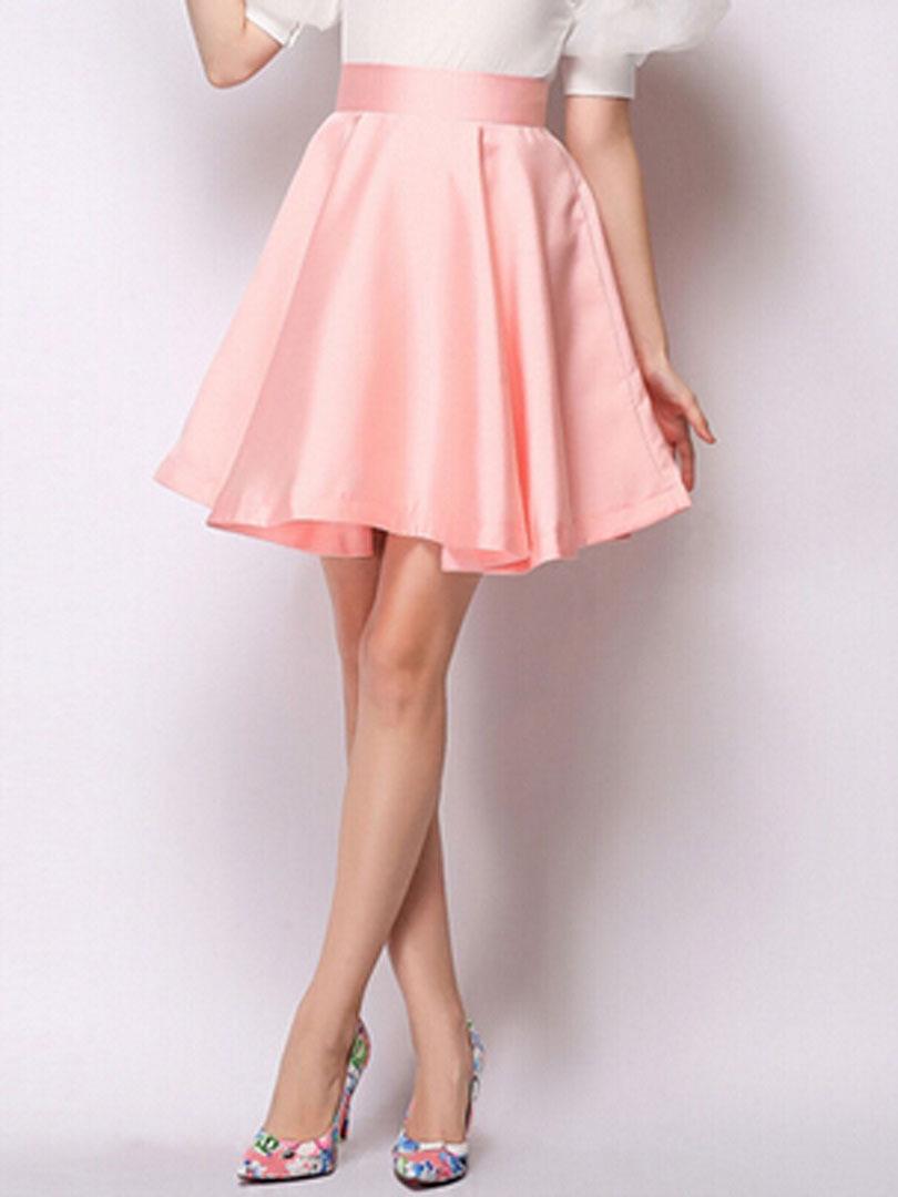 Light Pink High Waisted Skirt - Redskirtz
