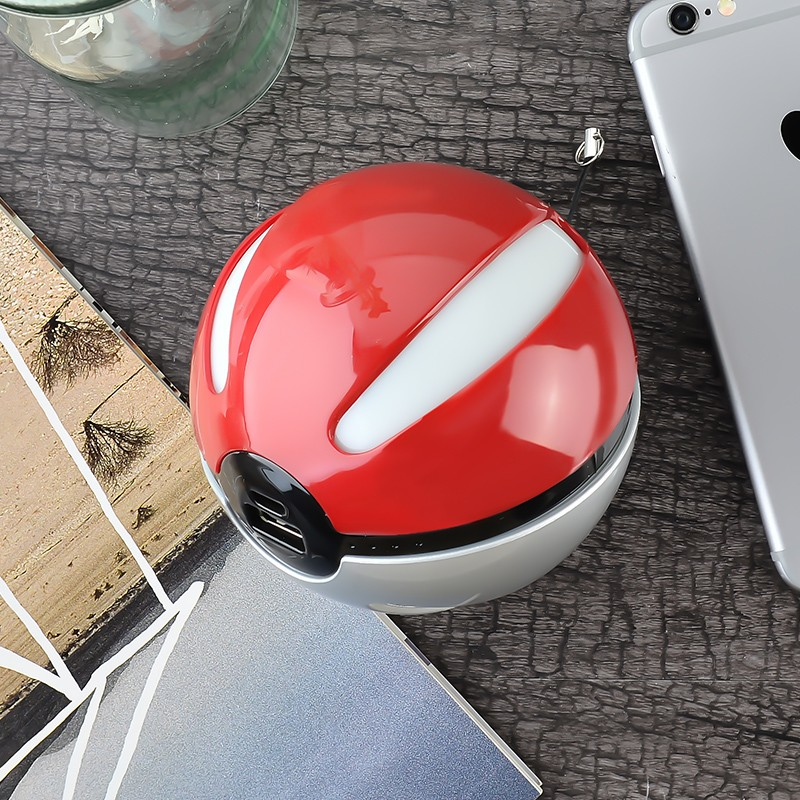 GOESTIME 2016 New Arrivals 12000mAh Large capacity Power Bank Double USB red Round External Backup Phone Battery Universal