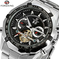 Cool Luxury Brand Forsining Wrist Watch Men Stainless Still Mechanical Watch Mens Dress Watch Gift for