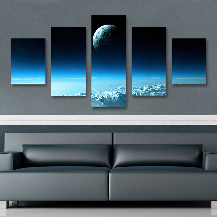 5PCS Home Decor Canvas Wall Art Decor Painting SPACE Wall Picture Canvas Art Print from Photo