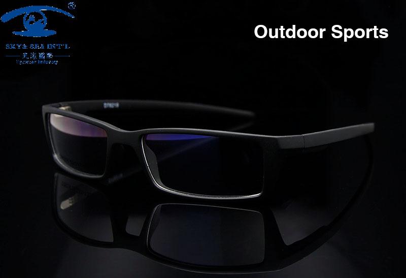 New Outdoor Sports Men Glasses Frame Black Wrap Eye Glasses Frames ...