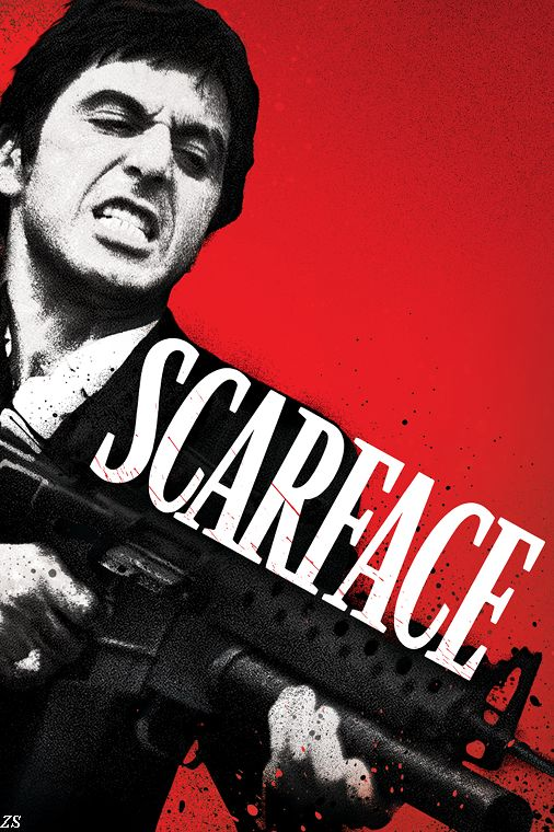 Classic Gangster Films Scarface Silk Fabric Movie POSTER Printing 12x18 20x30 24X36 32X48 Inch - & Canvas Poster Store store