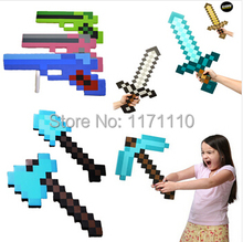 New 2014 Minecraft Toys Sword Pick Axe Gun Minecraft Game Props Model Toys Kids Toys Birthday & Christmas Gifts 18-23 inch(Hong Kong)