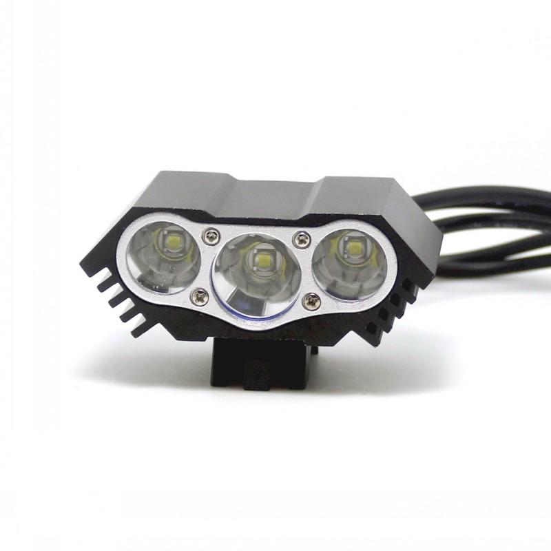 6000 Lumen 3x CREE XM-L U2 LED Headlight Headlamp Head Front Bicycle bike Lamp Light 3T6 Battery with Charger 3xU2