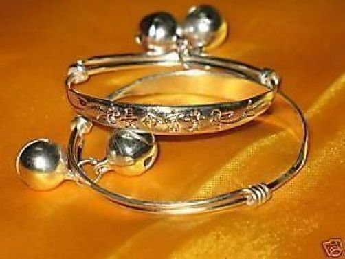 Collectable Antique Style Chinese pair tibet silver word baby/kid bracelet bangle Wholesale 4pcs 2 pair silver hook Fine Jewelry(China (Mainland))