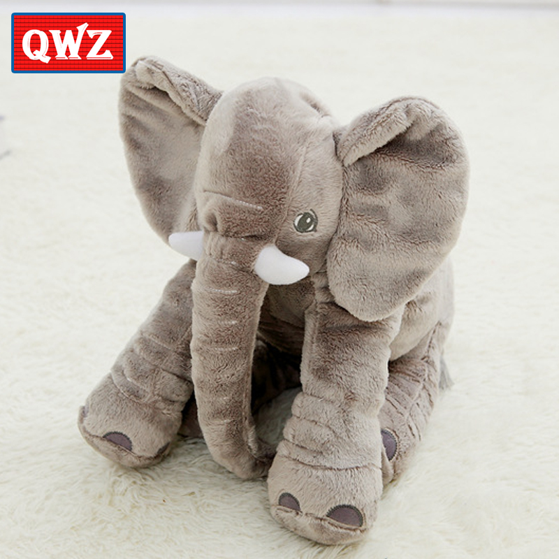 QWZ New 40cm Fashion Animals Toys Stuffed Soft Elephant Pillow Baby Sleep Toys Room Bed Decoration Plush Toys For Kids Gifts(China (Mainland))