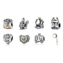 Buy Hot Sale 925 Sterling Silver Bead Charm 8 Style Fashion Beads Fit DIY Women Pandora Bracelets & Bangles for $1.95 in AliExpress store