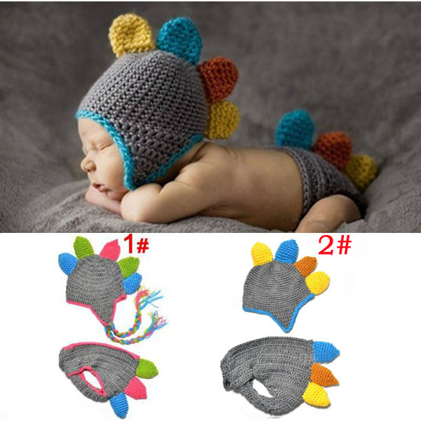Crochet Dinosaur Hat And Diaper Cover Pattern : Handmade Crochet Baby Hat and Diaper Cover Newborn ...