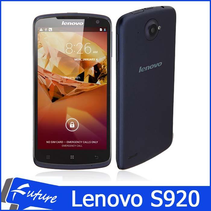 Original Lenovo S920 Mobile Phones 5.3 inch IPS 1280*720 1GB Ram 4GB Rom Android 4.2 MTK6589 Quad Core Cellular Phone 3G WCMDA(China (Mainland))