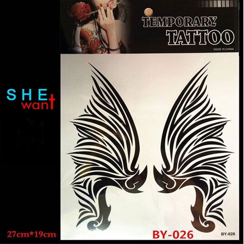 popular wings tattoos designs buy cheap wings tattoos designs lots from china wings tattoos. Black Bedroom Furniture Sets. Home Design Ideas