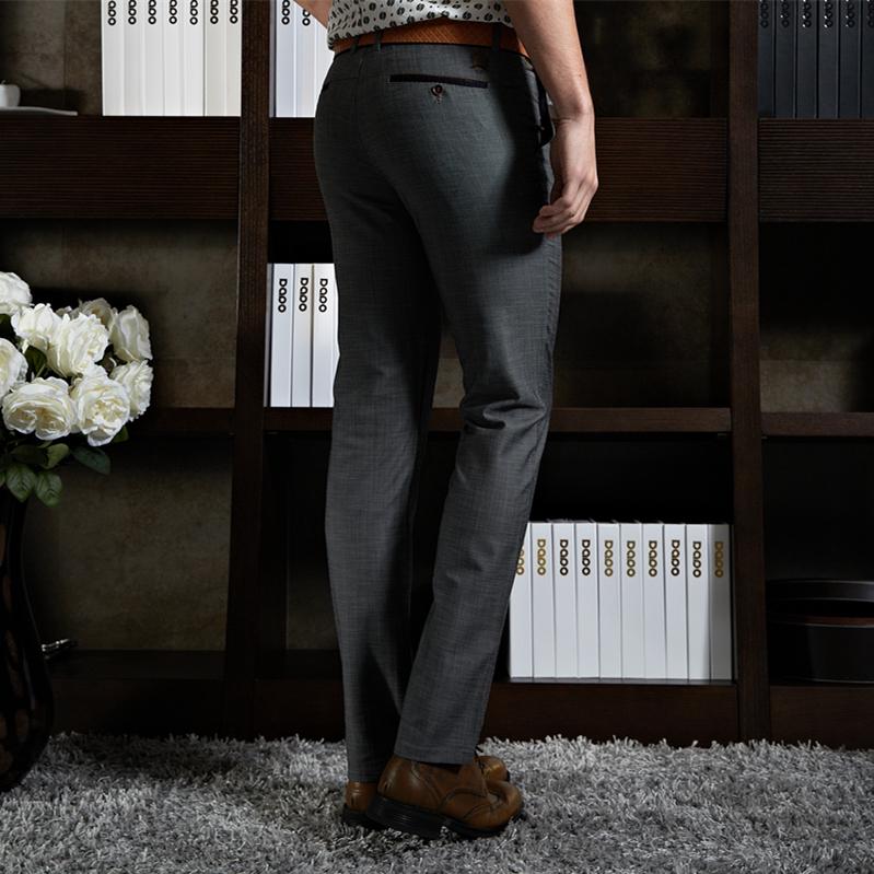 Men's Slim Fit Casual Formal Dress Business Pants Mens Slacks Smooth Trousers(China (Mainland))