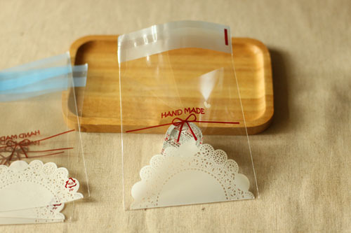 10*11cm elegant bow laceclear plastic gift bags self adhesive cookie biscuit cake food poly handmade soap packaging(China (Mainland))