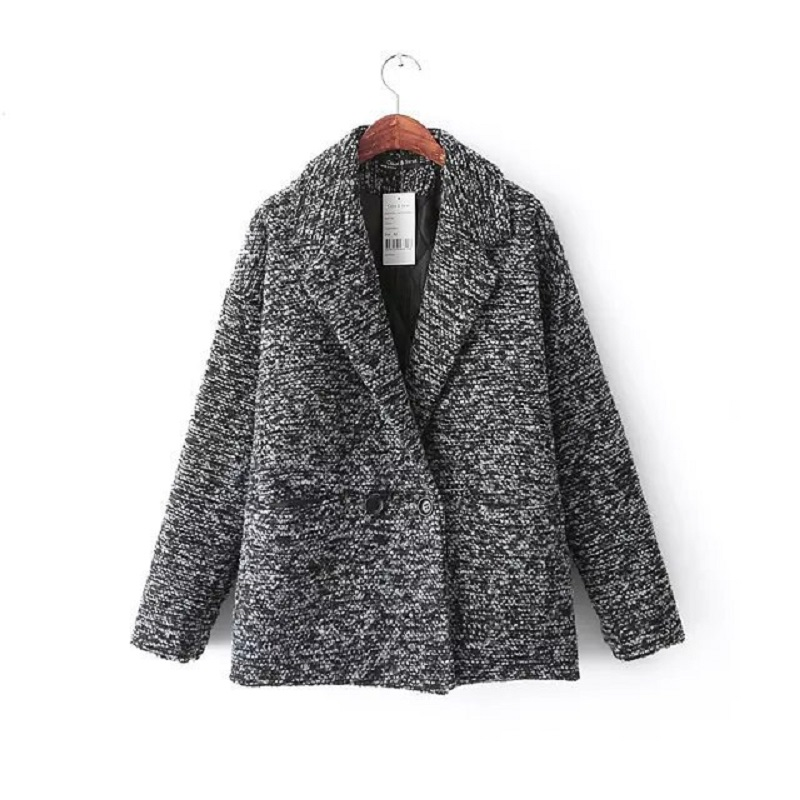 Double Breasted Pocket Women S Cashmere Coat 2015 NEW Woolen Coat Woman Jacket Winter Overcoat Woollen