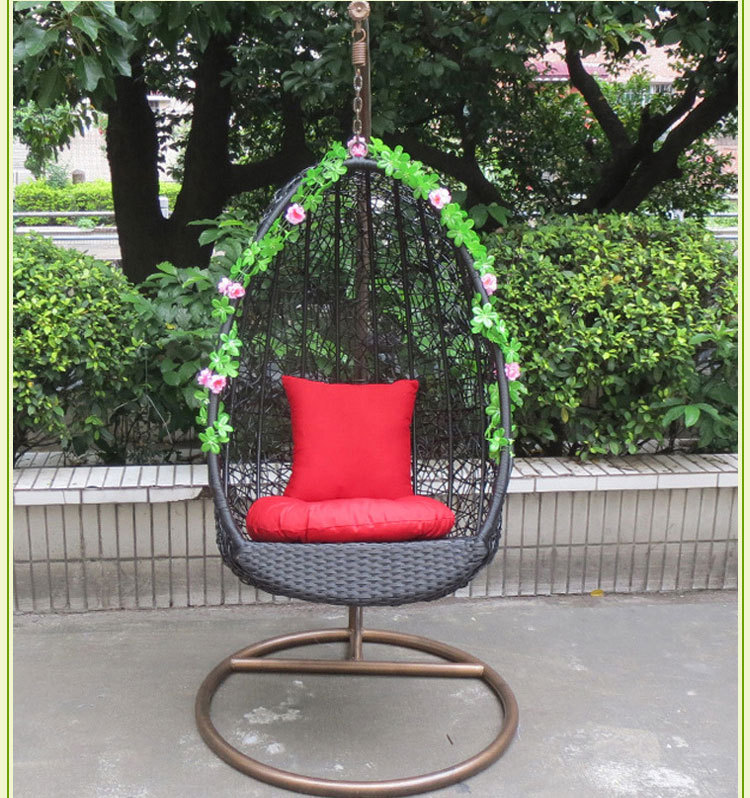 1x Luxury Metal Garden Swings Patio Hanging Basket Chair Adult Indoor & Outdoor Home Furniture Free Shipping(China (Mainland))