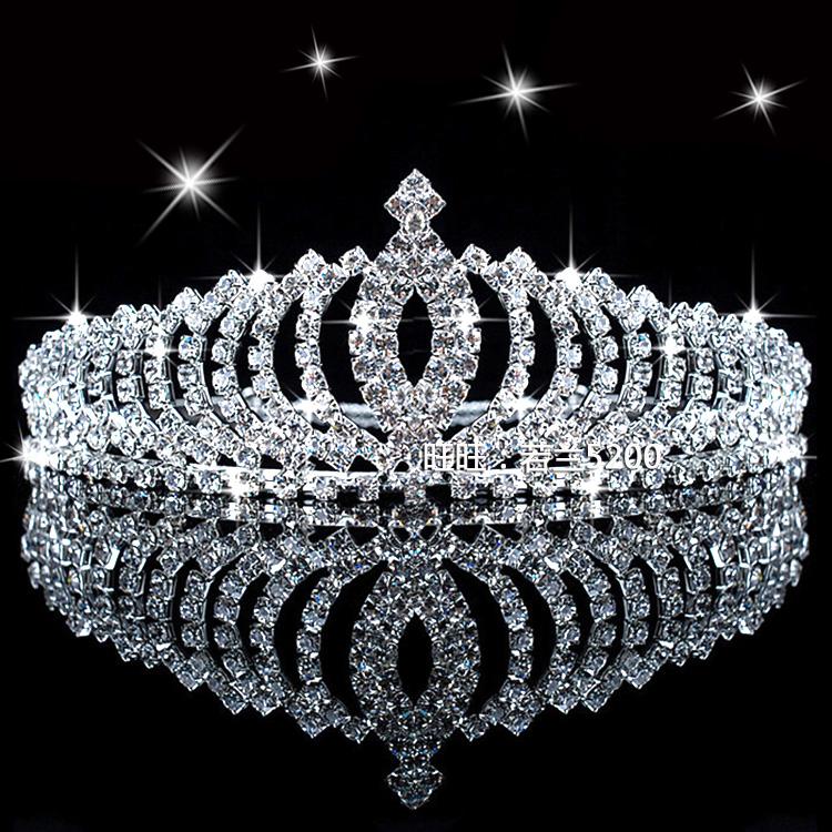 New Shiny Crystal Rhinestone Headband Silver Wedding Party Tiara Hair bands Bridal Hair Accessories Flower Girls Hairwear(China (Mainland))