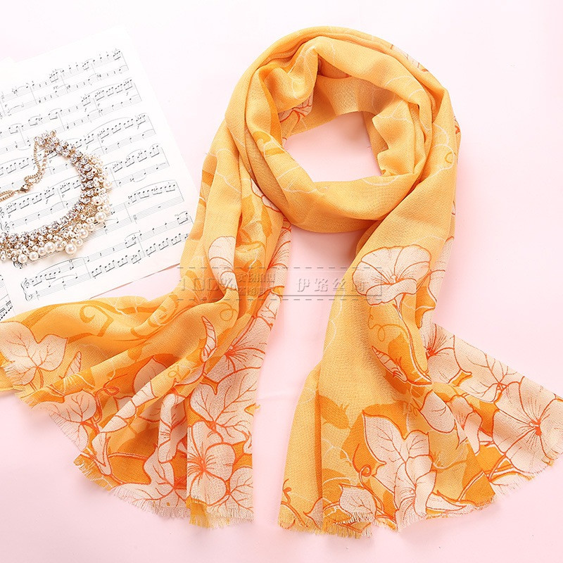 3 Colors Fashion Women Long Thin Wool Scarf Women Warm Soft Printed Scarves Spring Autumn Winter Style Bufanda Cachecol(China (Mainland))