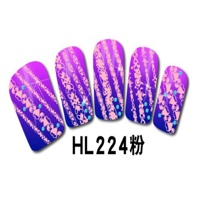 summer style decorations pink lace purple manicure nail art stickers accessories beleza french designer brand(China (Mainland))