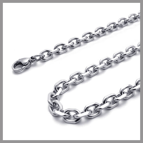 Stainless Steel 4-faced Cable Chain Necklace, Different Thickness, Different Lengths, 316 S.Steel, S007(China (Mainland))