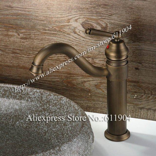 Antique Style Bathroom Basin Faucet Bar Sink Faucet Mixer Taps 2210082