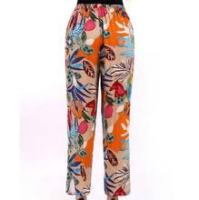 2016 Plus size Women Loose Cotton print Casual Pants Elastic Waist Loose Printed Harem Pants Trousers CE239