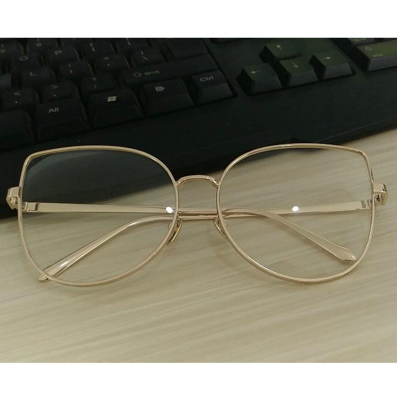 Large Designer Eyeglass Frames : New bran designer Women eyeglasses frames Vintage retro ...