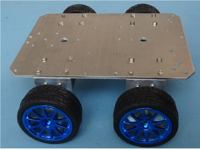 Здесь можно купить  Smart RC Car Chassis 4WD 37mm Motor 65mm 6061 Aluminum Alloy Chassis Wheel Robot Remote Control Tractor Tracing Ultrasonic DIY  Игрушки и Хобби