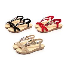 2016 new women s fashion summer style bohemian ethnic cross strap sandals women peep toe rome