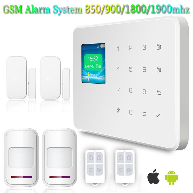 Best 433MHz Wireless Security Burglar Alarm Systems for Homes+Door sensor+PIR dectector+remote control<br><br>Aliexpress