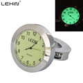 Lexin T1 Silver Waterproof fit 7 8 and 1 Noctilucent Motorcycle Handlebar Mount Clock Watch Motorbike
