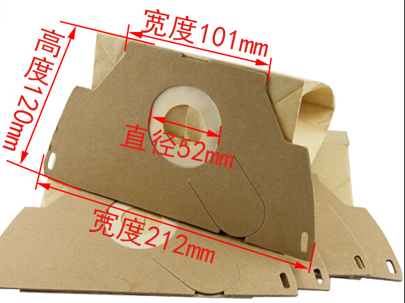 10Piece high efficiency filter paper bag Vacuum Cleaner Dust Bag for Electrolux Z1150 Z1100-7 ZW11 Volta Dolphin Blue U5001(China (Mainland))