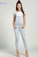 Denim Rompers Womens Jumpsuit Jeans Overalls Elegant Combinasion Monos Denim Overalls Women Slim Elegant Sexy Jumpsuit 2016