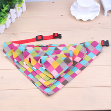XS / S / M / L / XL Plaid Scarf size cute pet dog collar dog collar tie quality pet handkerchief