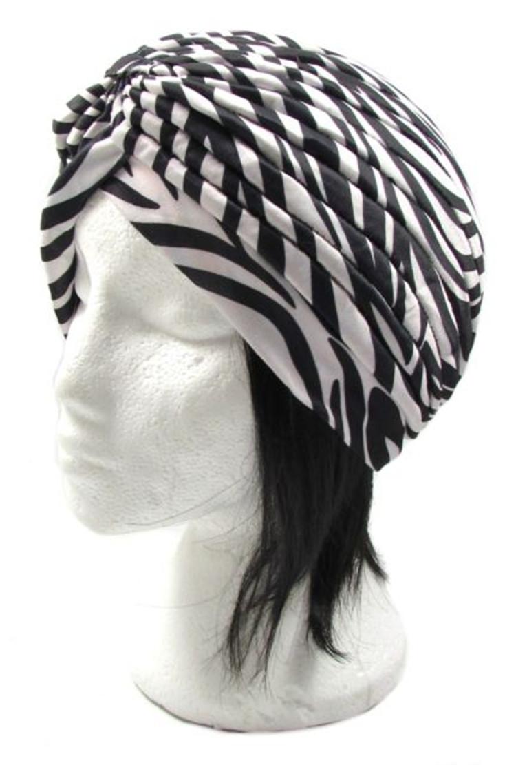 Patrón de cebra turbante Head Wrap Band gorra de Chemo Bandana TH-555(China (Mainland))