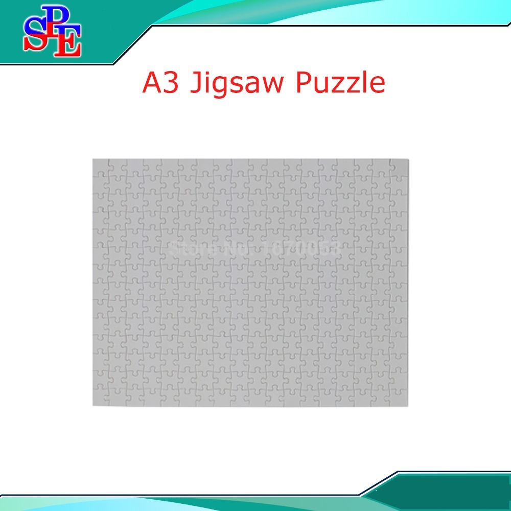 A3 Blank Sublimation Puzzle ,Custom Made Puzzles Blank Heat Transfer Sublimation Transfer Paper Puzle(China (Mainland))