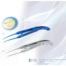 2015 Beer Tower Colibri Conjunctiva Toothed Forceps Microsurgical Curved Toothed Forceps SF-11125 Precision Tweezers(China (Mainland))