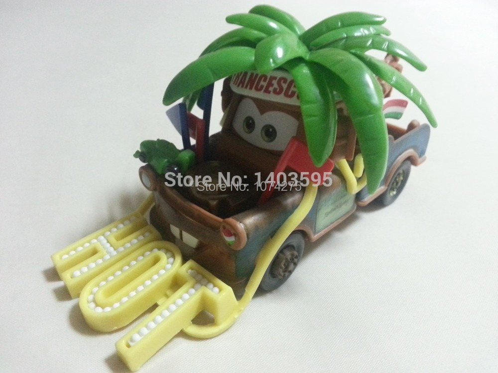 Pixar Cars Francesco Fan Mater Metal Diecast Toy Car 1:55 Loose Brand New In Stock & Free Shipping(China (Mainland))
