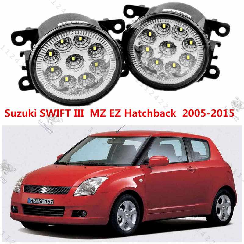for Car styling front bumper high brightness LED Fog lights Suzuki SWIFT mz ez Hatchback 2005-2015 car led fog lamps 1set(China (Mainland))