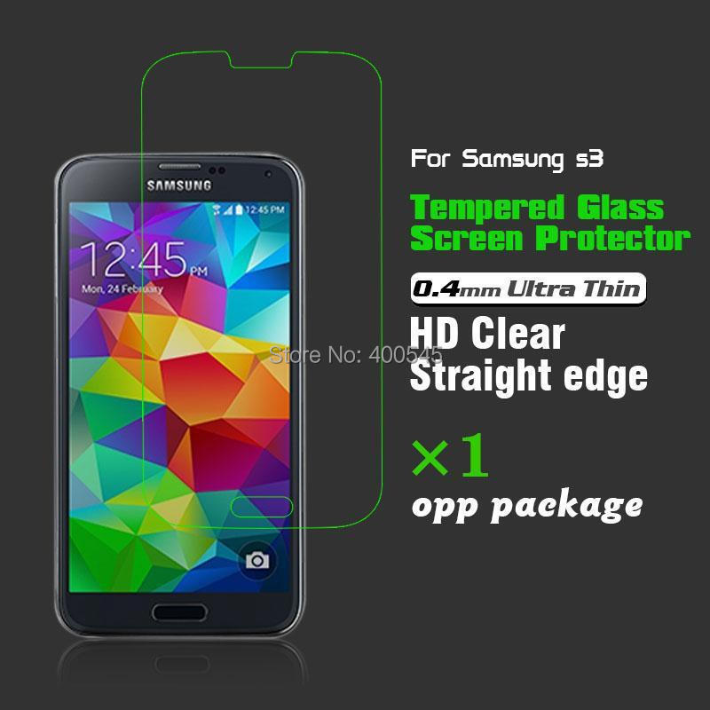 0.4mm 9H Ultra Thin HD Clear Tempered Glass Screen Protector protective film Samsung Galaxy i9300 S3 Opp Package - USBONLINEDIRECT Communication Co., Ltd. store