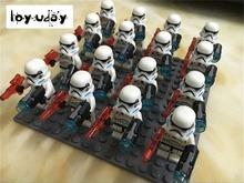 2016 Star Wars new blocks Aberdeen single bagged white Binglan soldiers soldiers 16 soldiers with grey brown send bulk floor