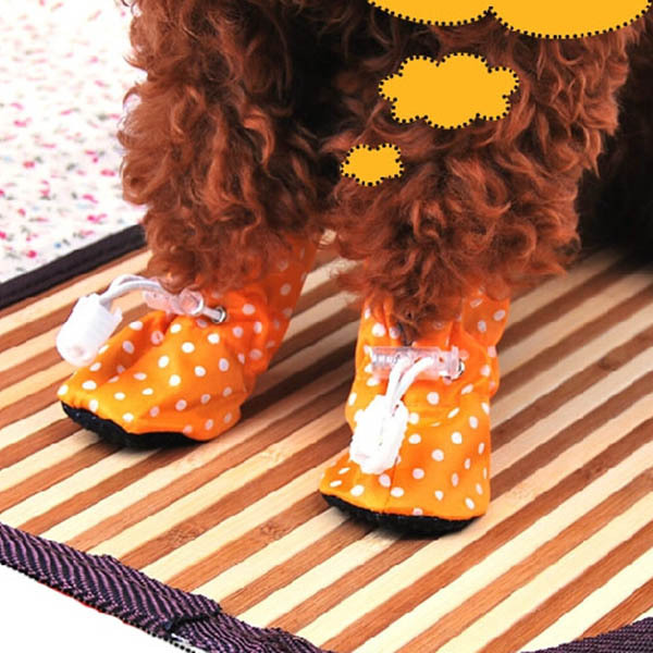 4PCS Pet Puppy Anti-slip Shoes Dog Cat Waterproof Protective Boots Shoes(China (Mainland))