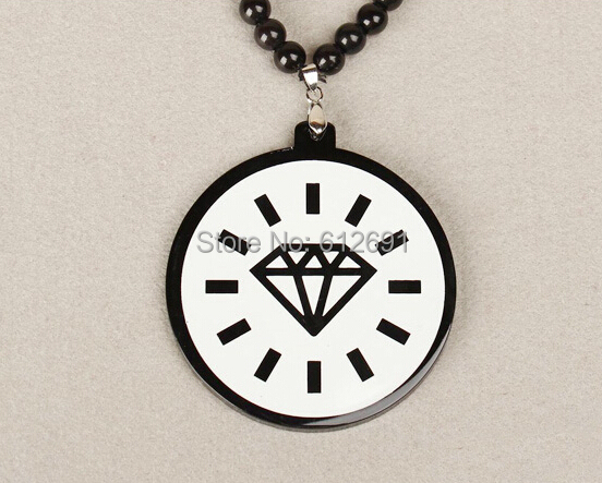 Drill necklaces GoodWoods necklace pendant hip hop Acrylic Necklaces fashion jewelry wholesale(China (Mainland))