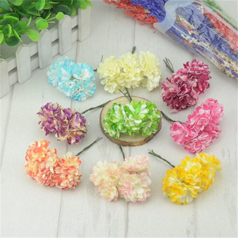 12pcs/lot 3cm Mini Handmade Small Paper Roses Flower Garland Wedding Bouquets Scrapbooking Decorative Paper Cheap Flores(China (Mainland))