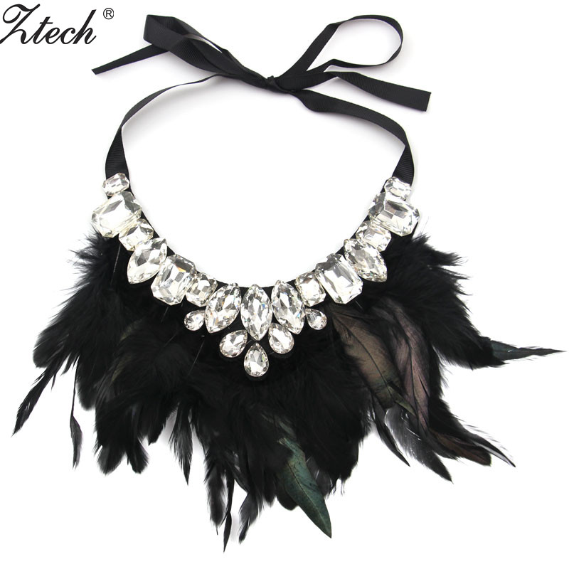 2016 Newest Fashion Bohemia Style rhinestone Trendy Feather vintage statement necklace Necklaces & Pendants women Jewelry - Her Luxury Store store