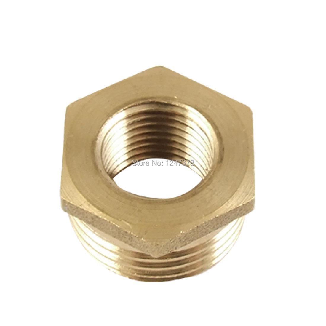 11.9 x 20.5mm Hex Brass Reducing Bushing Pipe Fitting Discount 50(China (Mainland))