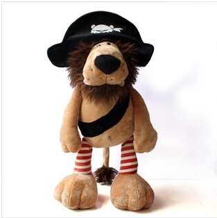 30cm Pirates genuine factory direct foreign trade NICI plush toys lion birthday holiday gift to send to friends send children(China (Mainland))