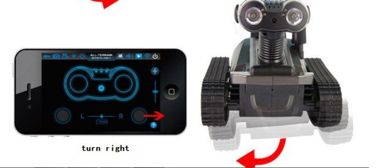 Free Shipping Wifi Real-time Transport 4CH RC Tank Car panzer controlled by iPhone ipad and Android with Video Camera vs T200